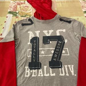 Boy's Red Gray t shirt Old Navy